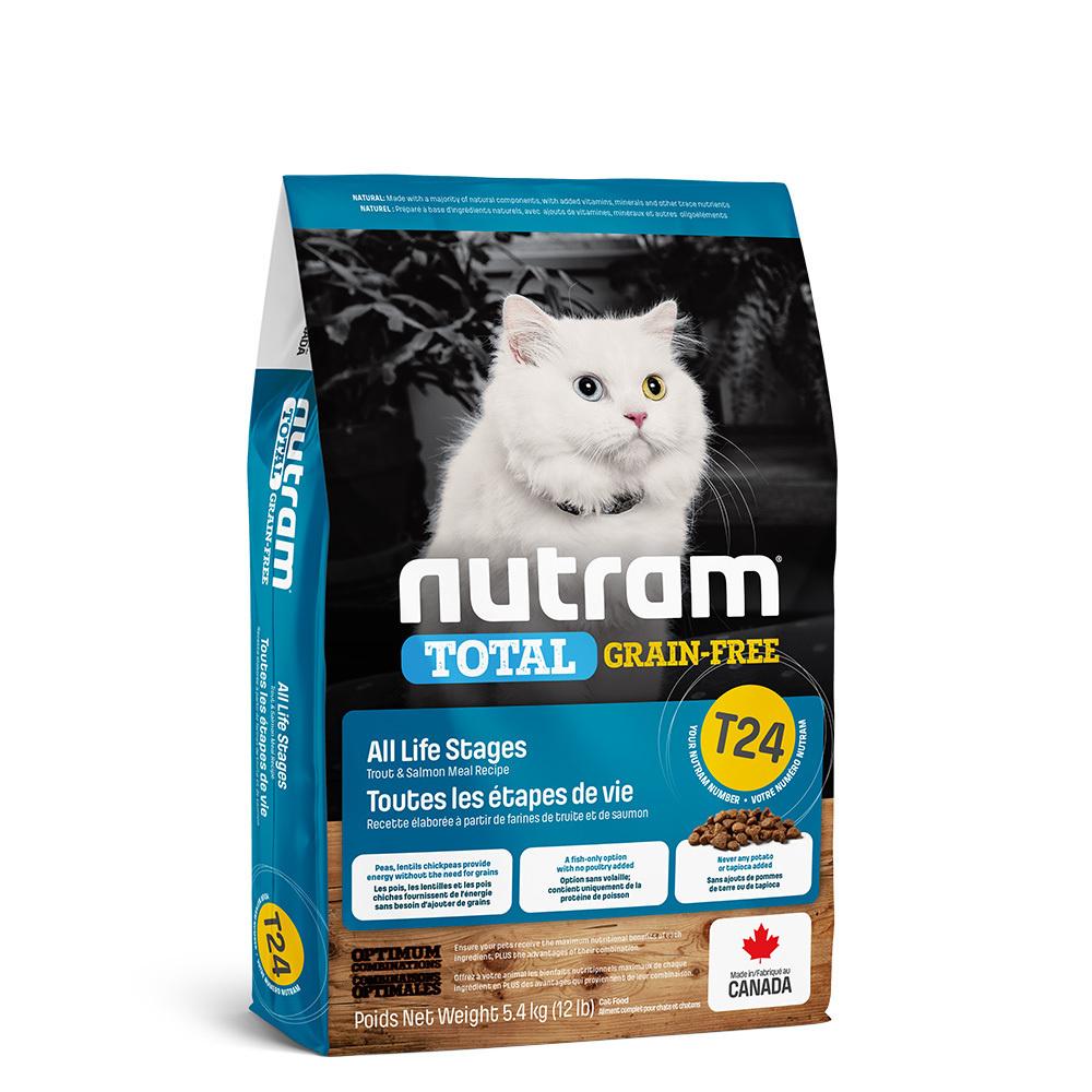 Nutram корм для взрослых кошек всех пород, беззерновой, лосось и форель 5,4 кг
