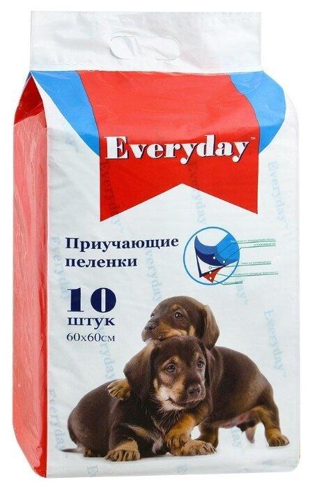 EVERYDAY Впитывающие пеленки для животных  (гелевые) 10шт 60х60см 56493, 0,250 кг