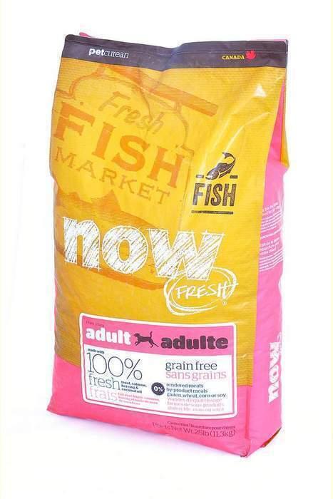 NOW Fresh корм для взрослых собак всех пород, деликатное пищеварение, форель и лосось 11,35 кг