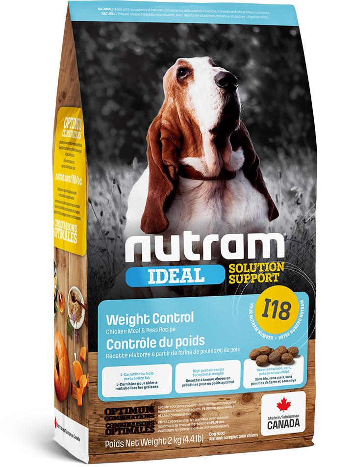 Nutram корм для взрослых собак всех пород, контроль веса 2 кг