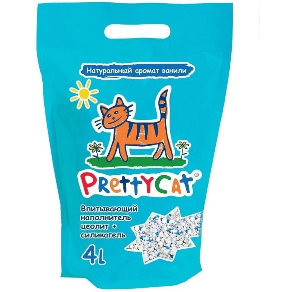 PrettyCat Aroma Fruit силикагелевый впитывающий наполнитель, цеолит + силикагель 2 кг