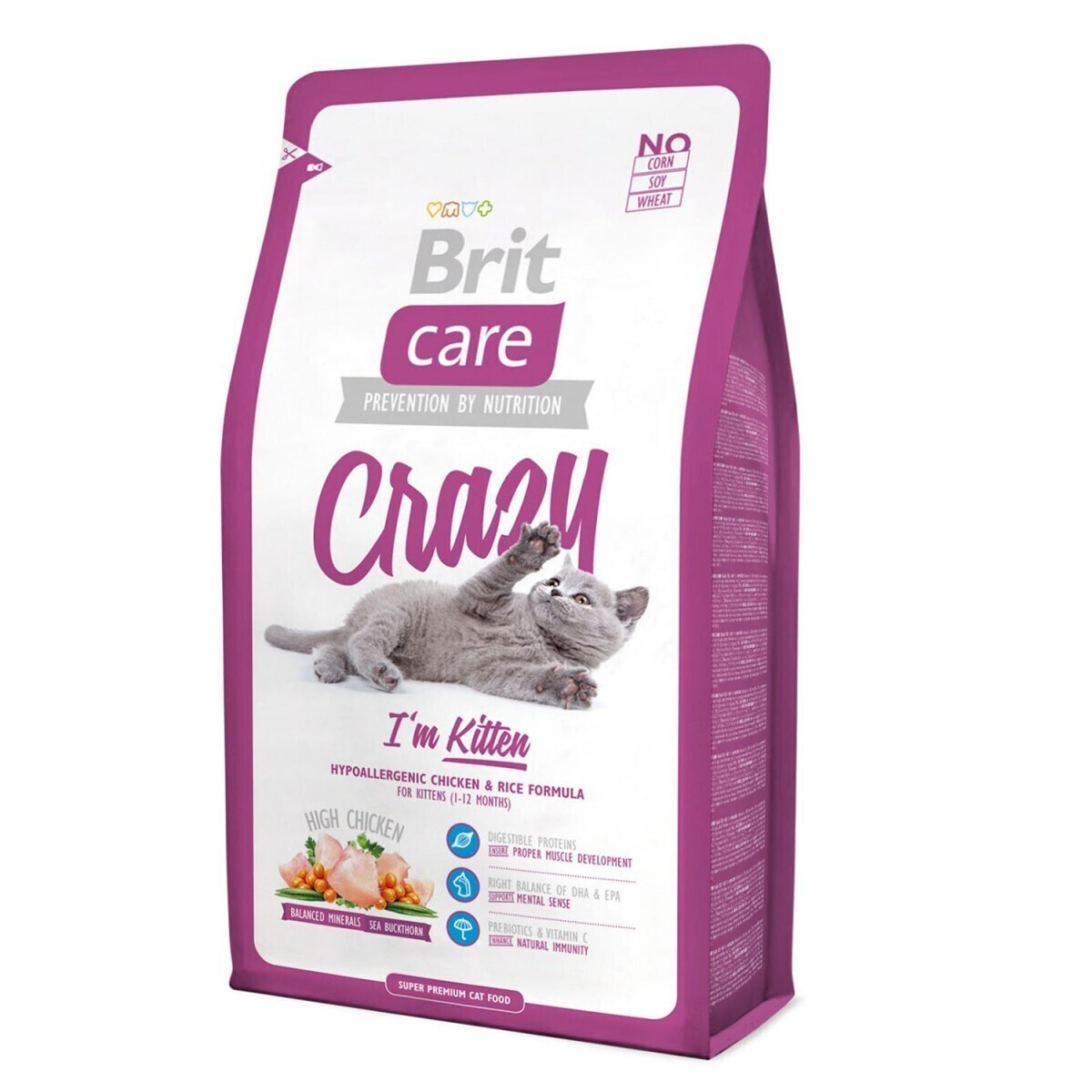 Brit Care корм для котят всех пород, курица 7 кг