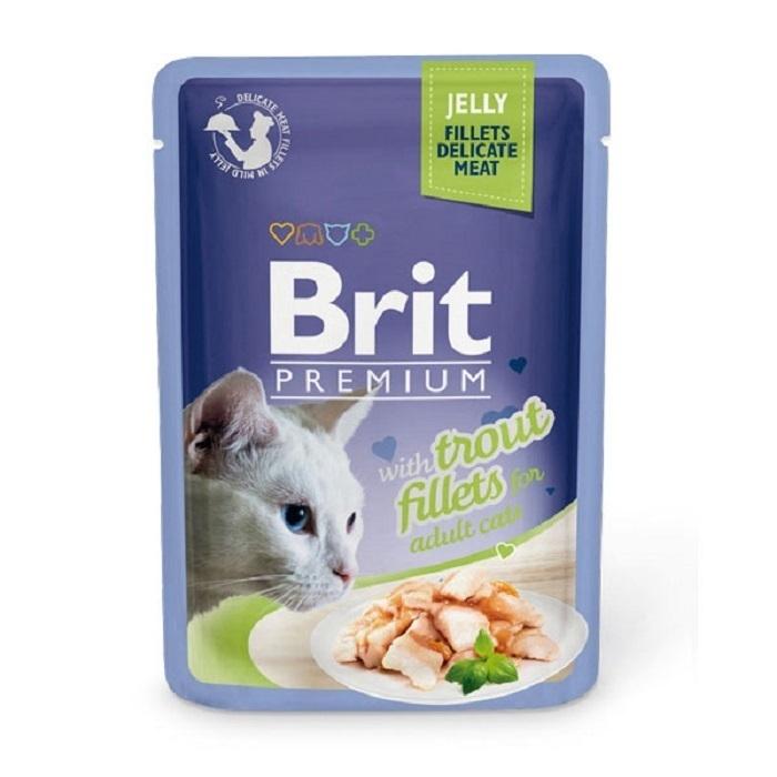 Brit Premium влажный корм для взрослых животных всех пород, форель 85 гр