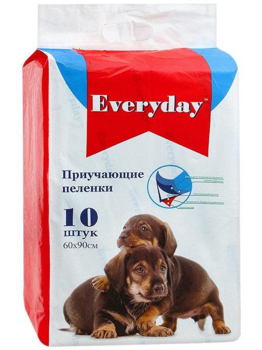 EVERYDAY Впитывающие пеленки для животных  (гелевые) 10шт 60х90см 56495, 0,250 кг, 34098