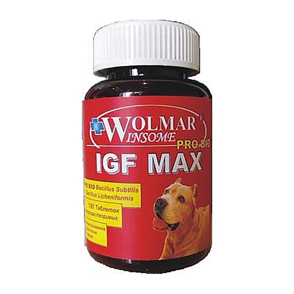 Wolmar Winsome Pro Bio IGF Max кормовая добавка для собак крупных пород, для увеличения массы тела 180 таблеток, 3500100378