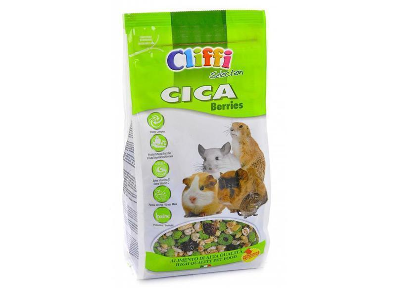 Cliffi (Италия) Корм для морских свинок, шиншилл, дегу и луговых собачек (CICA berries SELECTION) PCRA039, 0,800 кг, 34058