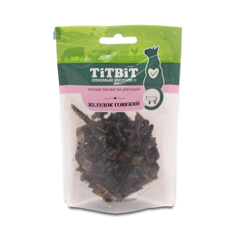 Titbit Желудок говяжий лакомство для кошек 30 гр