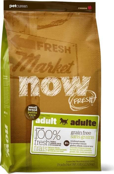 NOW Fresh корм для взрослых собак малых пород, беззерновой, индейка, утка и овощи 11,35 кг