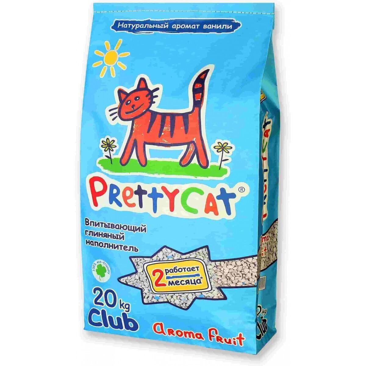 PrettyCat Aroma Fruit силикагелевый впитывающий наполнитель, цеолит + силикагель 20 кг
