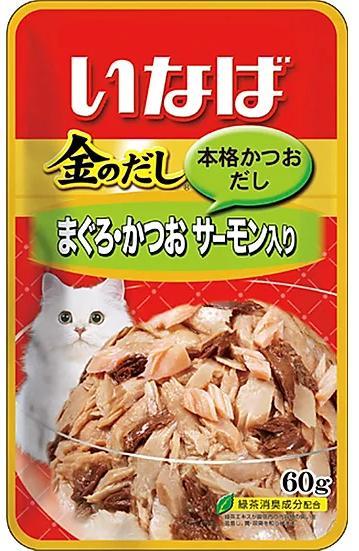 CIAO влажный корм для кошек, японский тунец бонито и лосось 60 гр
