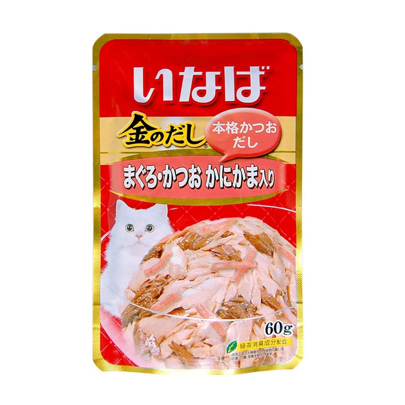 CIAO влажный корм для кошек, японский тунец бонито и камчатский краб 60 гр