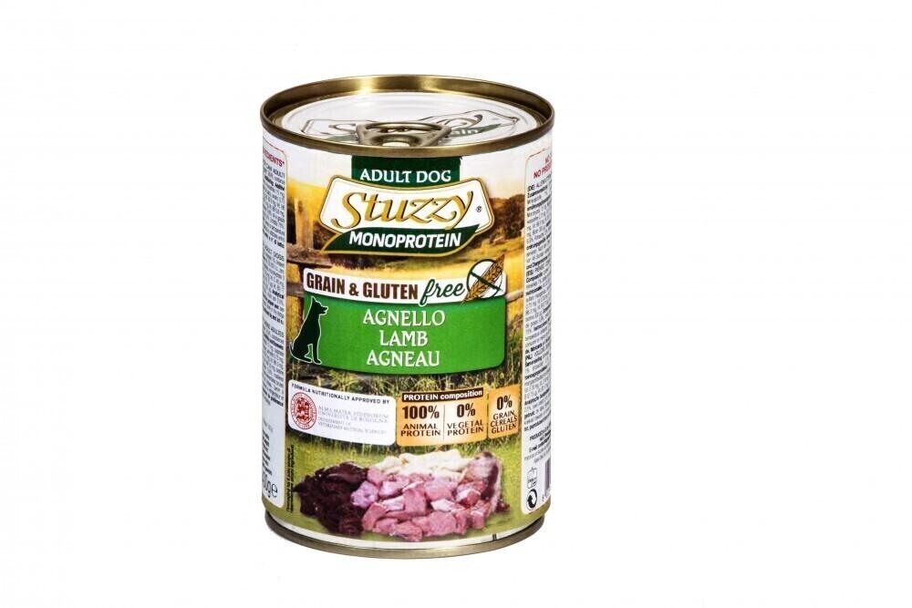 Stuzzy Monoprotein влажный корм для взрослых собак всех пород, ягненок 800 гр
