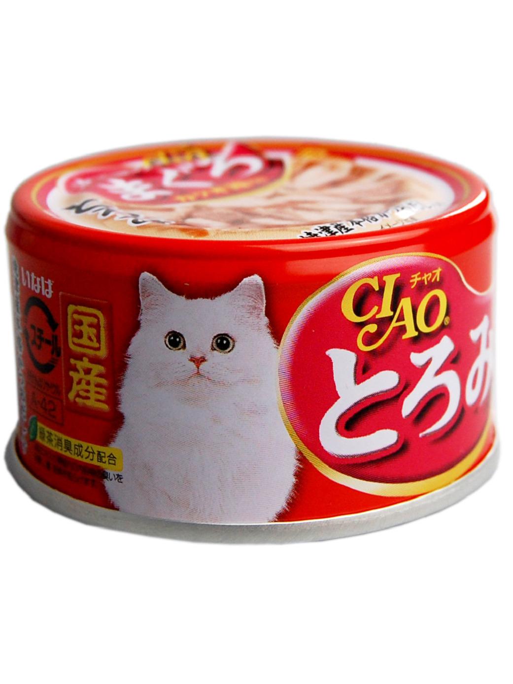 CIAO влажный корм для кошек, карпаччо из мраморной вырезки тунца 80 гр