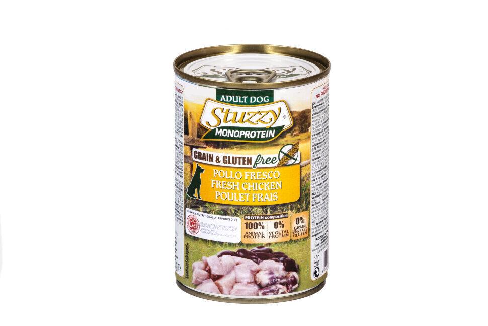 Stuzzy Monoprotein влажный корм для взрослых собак всех пород, свежая курица 800 гр