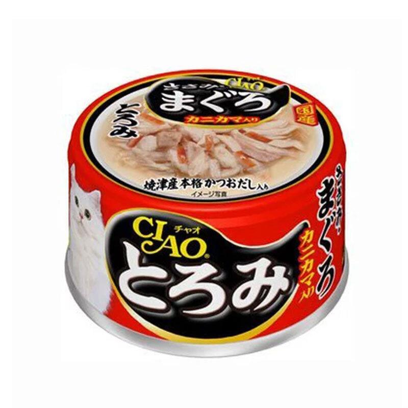 CIAO влажный корм для кошек, камчатский краб с мраморной вырезкой тунца 80 гр