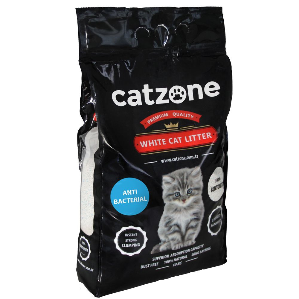 Catzone комкующийся наполнитель для кошачьих туалетов, антибактериальный, морской бриз 10 кг