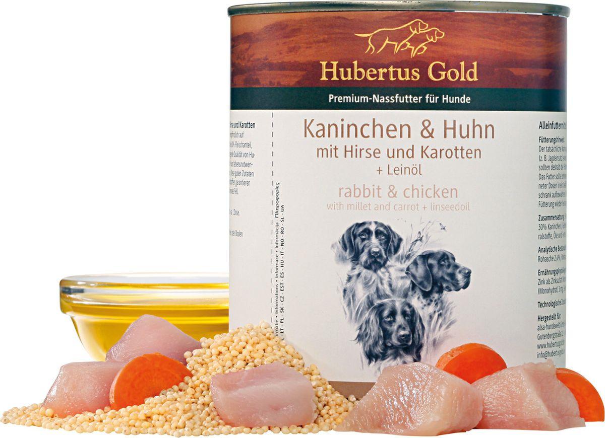 конс. Hubertus Gold® кролик с курицей и морковью 800 гр. 1/6