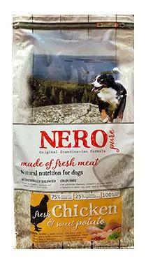 Nero Pure Беззерновой корм для взрослых собак со свежим мясом курицы, бататом  и фруктами (Nero Pure Adult with Fresh Chicken 2,5kg) 7371809, 2,500 кг, 43176