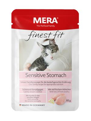 FINEST FIT NASSFUTTER SENSITIVE STOMACH   (пауч для кошек с чувствительным пищеварением)