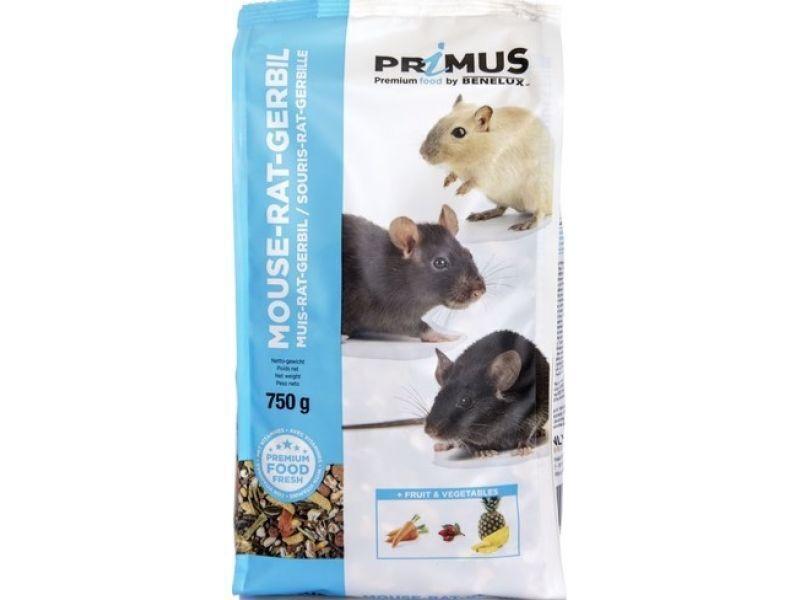 Benelux корма Корм для мышей, крыс и песчанок Премиум (Primus mouce rats gerbil Premium) 32533 (PRIMUS MOUSE RAT GERBIL 750G) 32533, 0,750 кг, 30011