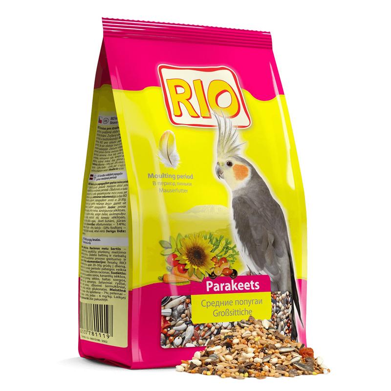 RIO корм длЯ собак редних попугаев при линьке 500 гр