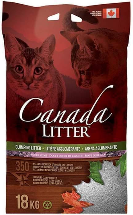 Canada Litter Канадский комкующийся наполнитель Запах на Замке, аромат лаванды (Scoopable Litter), 18,000 кг, 20144