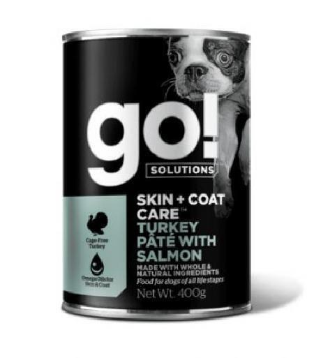 GO! влажный корм для собак с индейкой и лососем 400 гр
