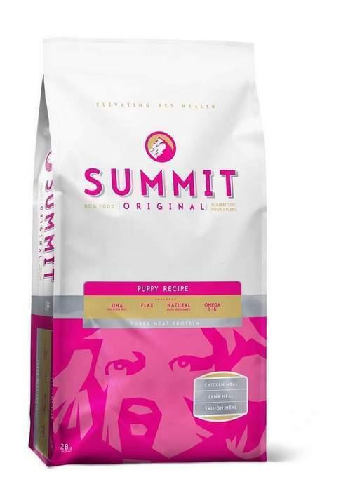 Summit Для щенков три вида мяса с ягненком, цыпленком и лососем (Original Three Meat, Puppy Recipe DF), 12,700 кг, 10379