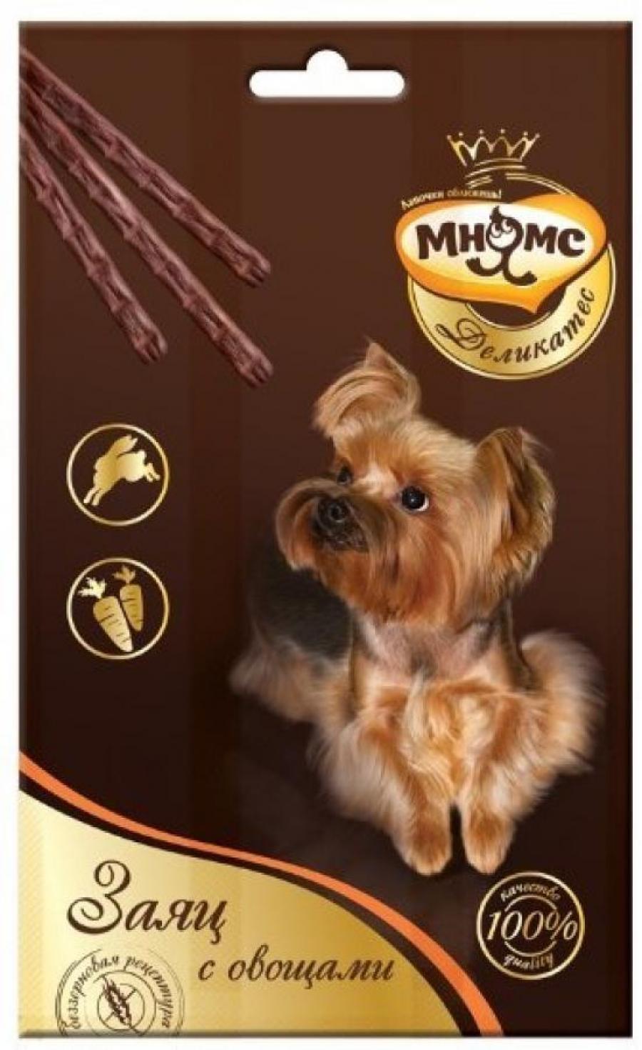 Мнямс Деликатес лакомые палочки 13,5 см для собак с зайцем и овощам 3х11 г, 4200100830