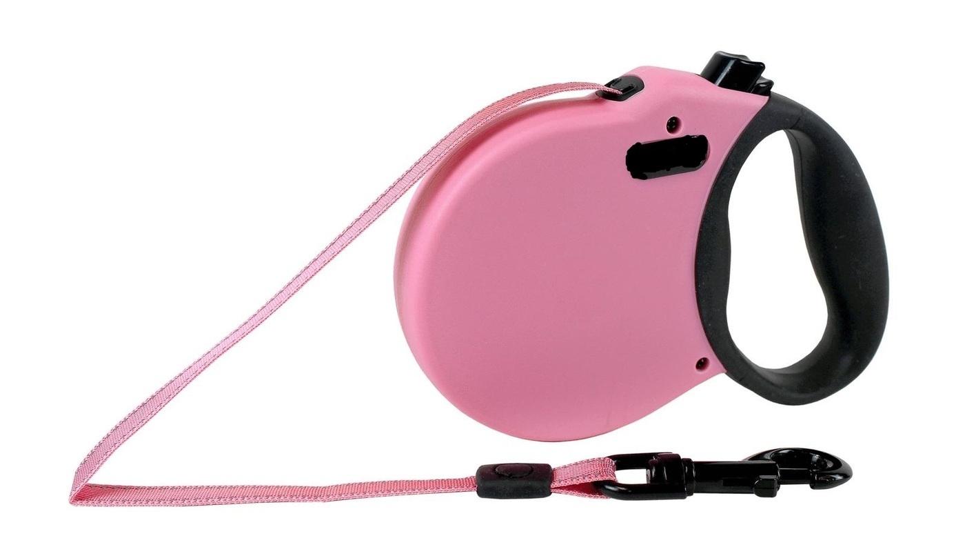 ALCOTT ADVENTURE рулетка антискользящая ручка (лента) XS/3м/11кг розовый