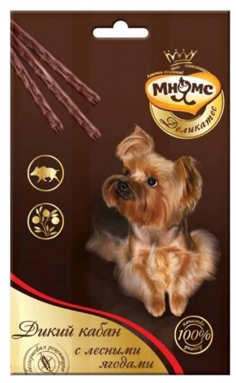 Мнямс Деликатес лакомые палочки 13,5 см для собак с мясом дикого кабана и лесными ягодами 3х11 г, 4300100830