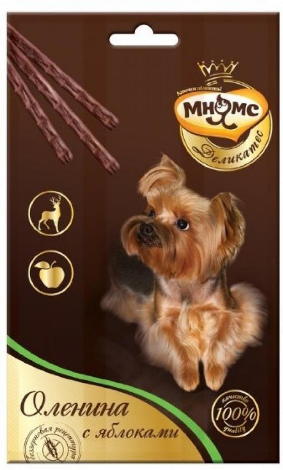 Мнямс Деликатес лакомые палочки 13,5 см для собак с олениной и яблоком 3х11 г, 4400100830
