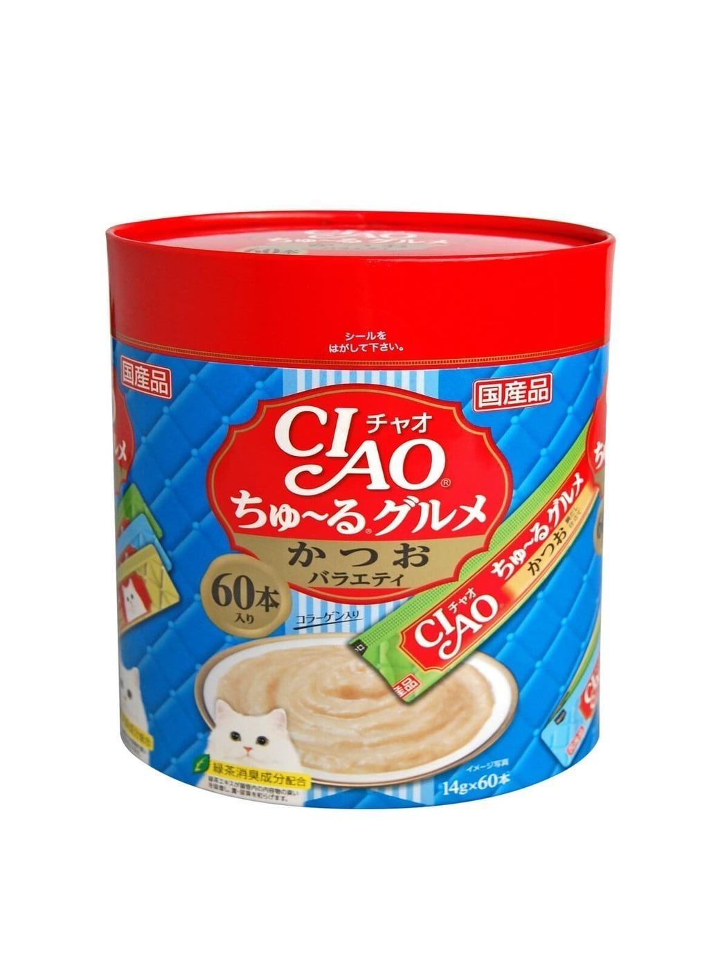 CIAO лакомство для кошек, ассорти из морских деликатесов на основе тунца 840 гр