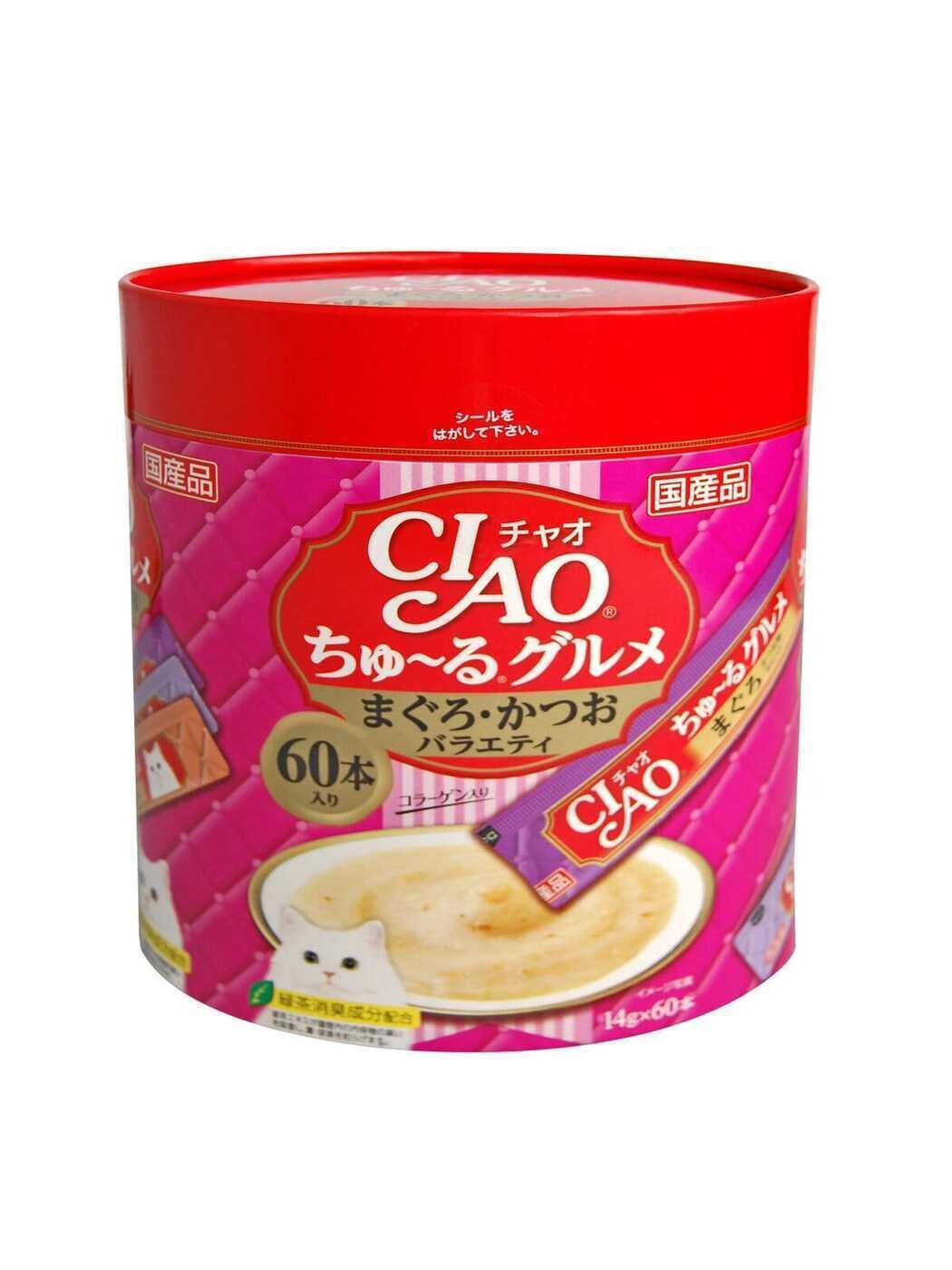 CIAO лакомство для кошек, деликатесный фьюжн на основе мраморной вырезки тунца 840 гр