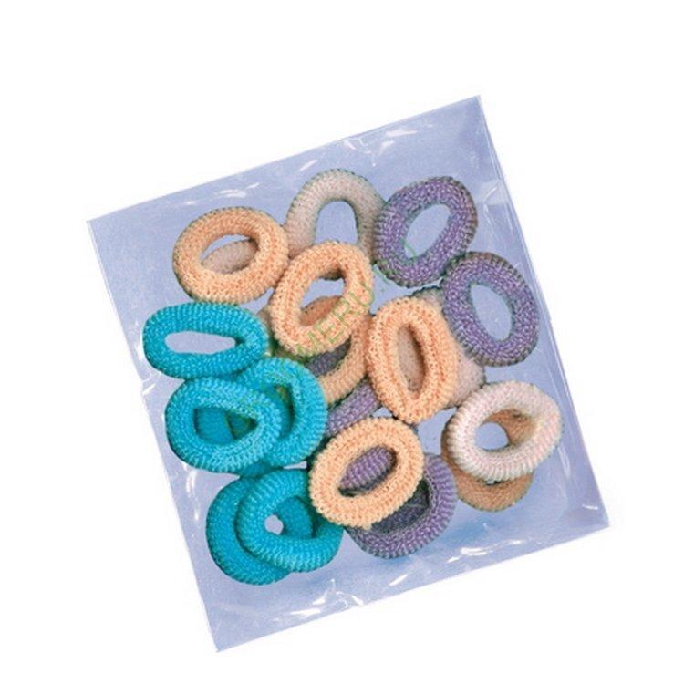 H466 Artero Cotton hair bands тканевые резиночки дволос,24шт.,большие,разноцветные.