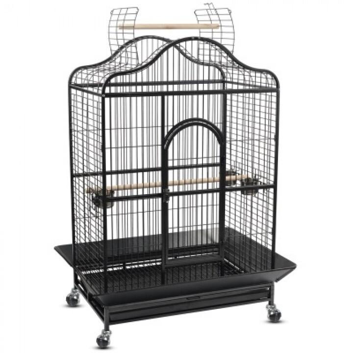209-SY Клетка для птиц 124.5х92х180см БЕЛАЯ или ЧЁРНАЯ (нан)