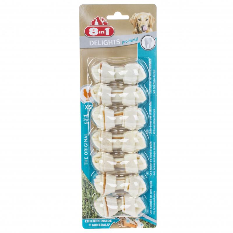 8 in 1 лакомство для взрослых собак малых пород, косточка очищающая зубы 84 гр