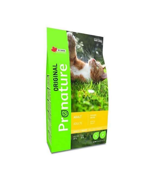 Pronature корм для взрослых кошек всех пород, курица 5 кг