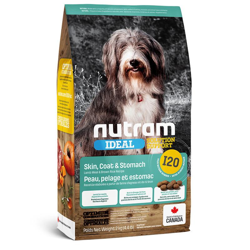 Nutram корм для взрослых собак всех пород с проблемами ЖКТ, кожи и шерсти 500 гр