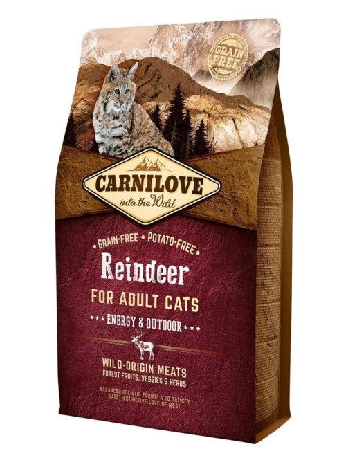 Carnilove 2кг Reindeer for Adult Cats - Energy & Outdoor дк активных северный олень