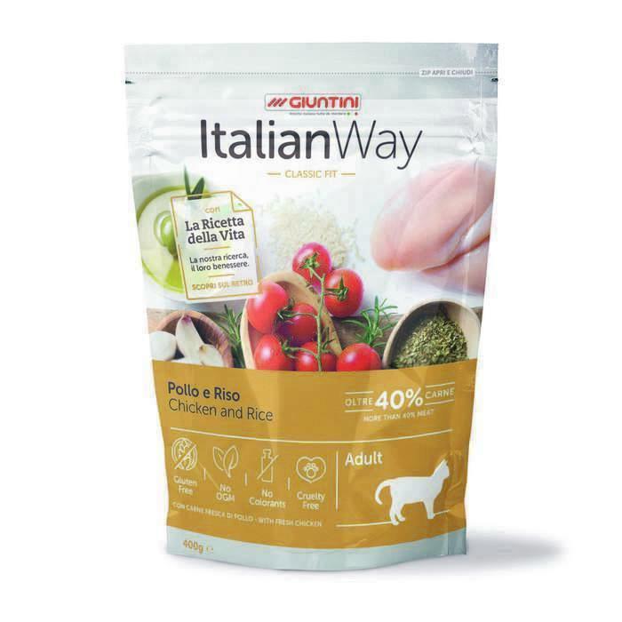 Italian Way корм для кошек Classic Fit, с курицей, с рисом 8 кг