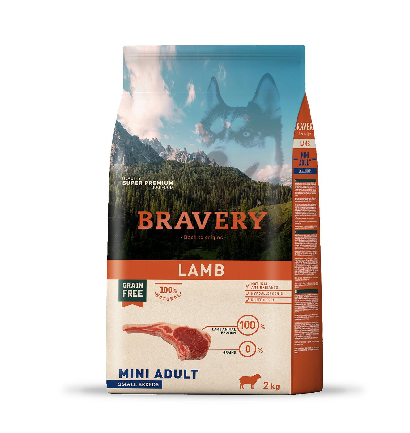 Bravery lamb small breeds корм для собак Мелких пород Ягненок 2кг