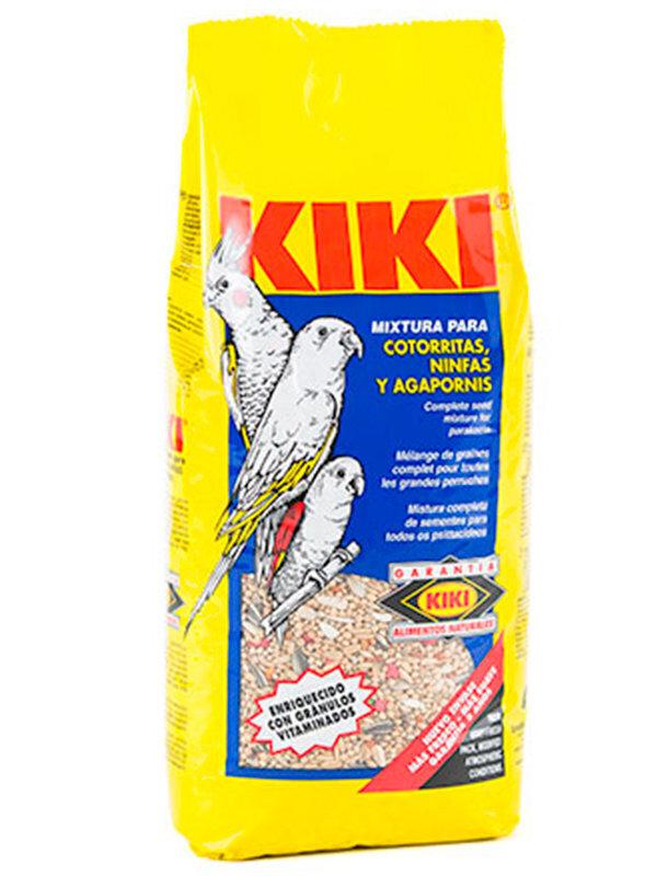224 KIKI Корм для средних попугаев и нимф 1кг 120