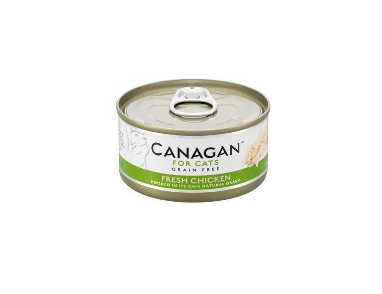 Canagan влажный корм для взрослых кошек всех пород, беззерновой, цыпленок 75 гр