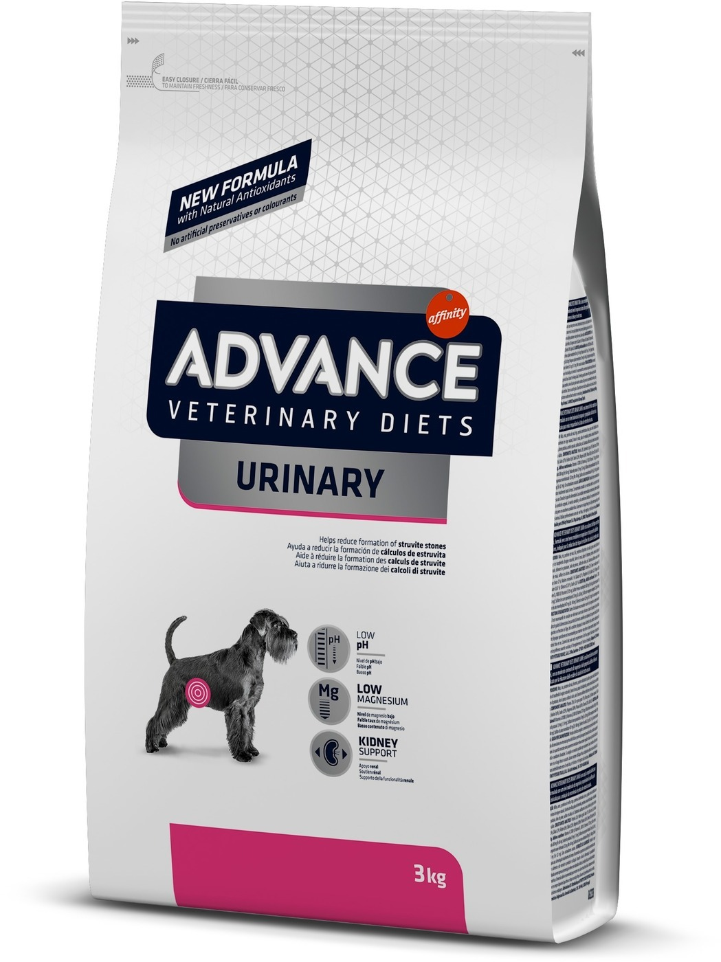 Advance корм для взрослых собак всех пород при мочекаменной болезни 3 кг
