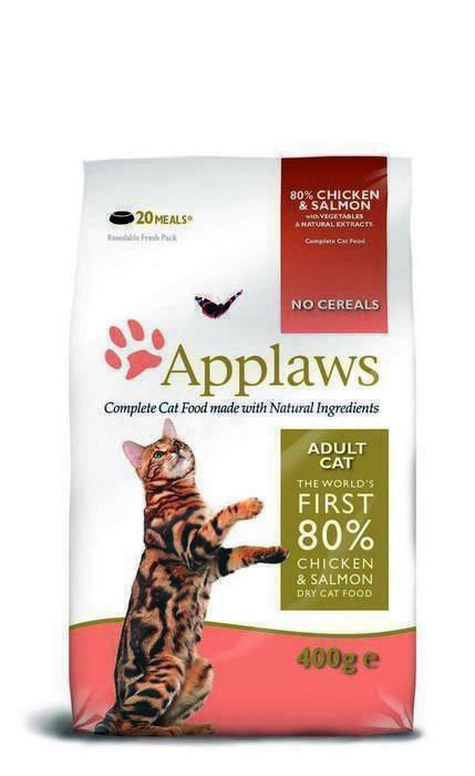 Applaws корм для взрослых кошек всех пород, беззерновой, курица, лосось и овощи 2 кг
