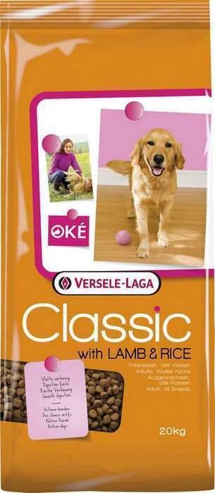 Classic (Versele-Laga) Для собак с ягненком и рисом (With lamb & Rice) 438017, 20,000 кг, 46895