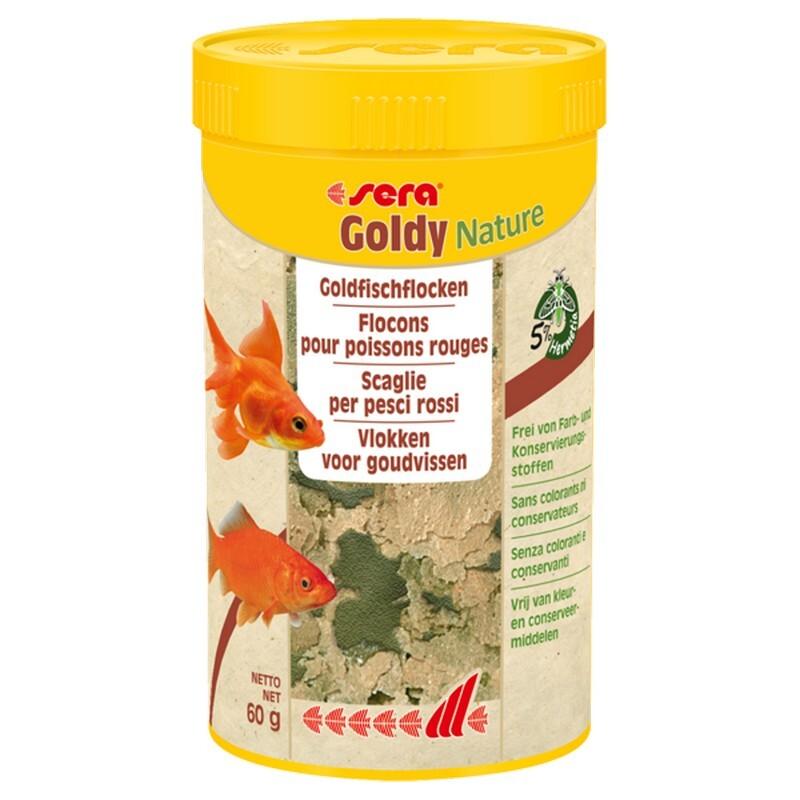 Goldy NATURE  250 мл 60 г Сера Корм для золотых рыб в хлопьях (S32248)