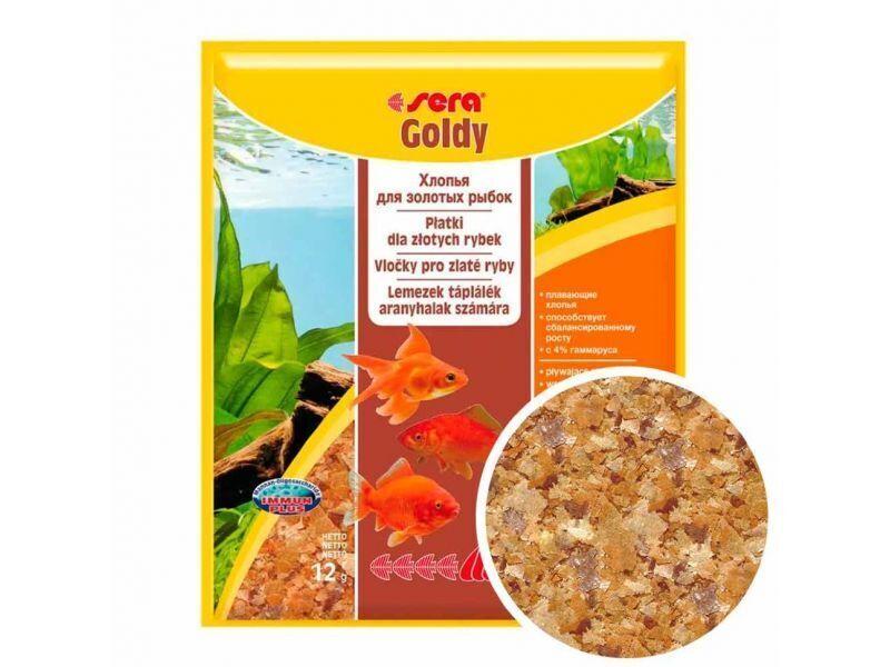 Sera корм для золотых рыб, хлопья 12 гр