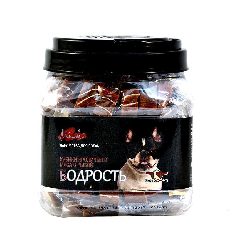 GR.QZIN длЯ собак МИНИКИ БОДРОСТЬ (кубики мяса кролика с суримми для мини пород ) 630 гр (30 пак.в инд. упаковке) 3218